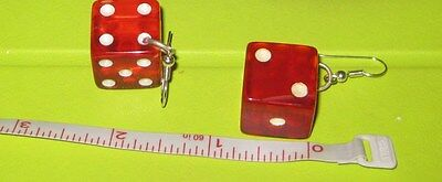 Bakelite Dice earrings, 5/8 inch size sold as pictured check my other listings