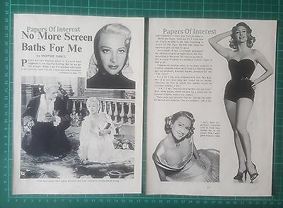 (598) Martine Carol Actress  - 1957 Article