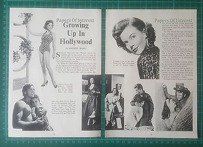 (1305) Natalie Wood Actress  - 1957 Article