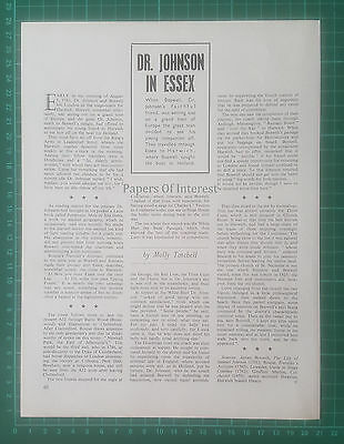 (1347) Dr Johnson Boswell Harwich Essex Three Cups - 1969 Article