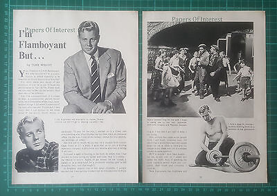 (600) Tony Wright Actor  - 1957 Article