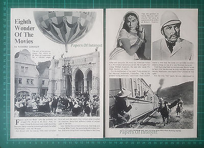 (1307) Mike Todd Around The World In 80 Days Film Producer  - 1957 Article