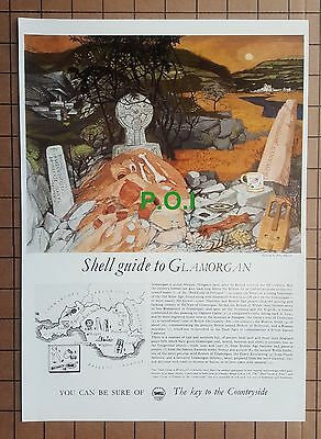 (X248) GLAMORGAN Shell Guide   -    1961 One Page Clip