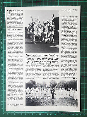 (1206) Thaxted Morris Dancers Essex - 1983 Article