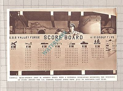 C3045)  Rear Admiral John M Hoskins US Carrier VALLEY FORGE Score  -  1951 Clip