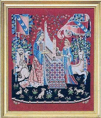 Medieval Tapestries - Sense of Hearing - Cross Stitch Chart - Free Postage
