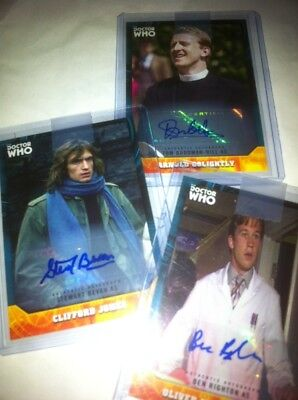 TOPPS DOCTOR WHO SIGNATURE SERIES  AUTOGRAPH CARD LOT, 3 CARDS, all Different