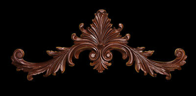"""Hand-carved Wood Wall Pediment 38"""""""