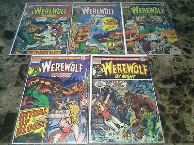 Werewolf by Night 4 5 6 7 VF to F- 8.0 to 5.5 Marvel Horror Bronze Age Lot