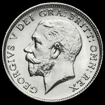 1924 George V Silver Sixpence, A/UNC