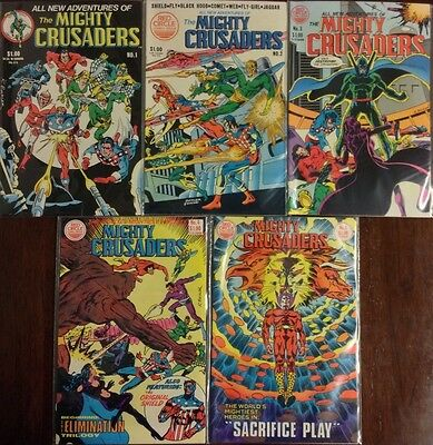 The Mighty Crusaders Comic Lot of 5 #s 1-5 Red Circle Comics(1983)
