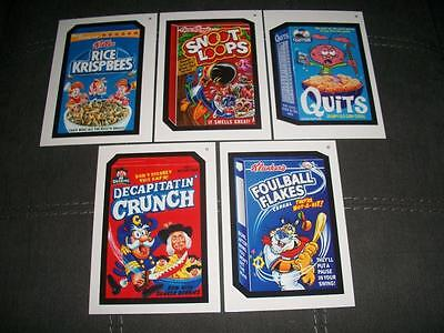 2015 Exclusive Wacky Packages 5X7 Cereal Cards W. Artist Bhob Stewart Last Title