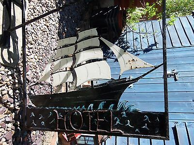 Ship Hotel Hand Forged Wrought Iron Gallows Bracket Hotel Pub Sign