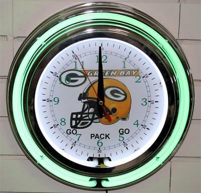 Green Bay Packers Neon Clock NFL New Wall Clock Lifestyle Lighting