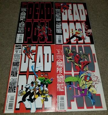 Marvel Comics Deadpool 1 2 3 4 NM Set Circle Chase X-men book 10/93 Movie Coming