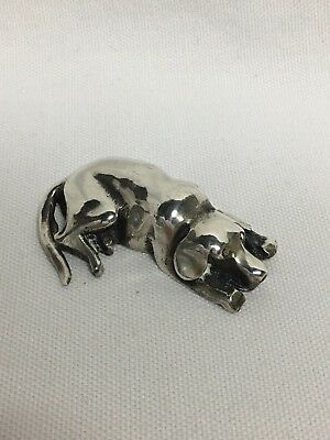 S Kirk & Sons Solid Sterling Silver Resting Labrador Dog Miniature Figurine 64g