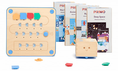Primo Toys Cubetto + Deluxe Pack 5x Maps, 5x Story Books