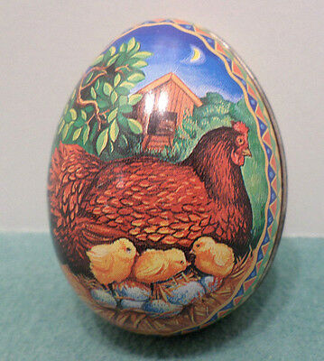 Vintage Metal Easter Egg Candy Container