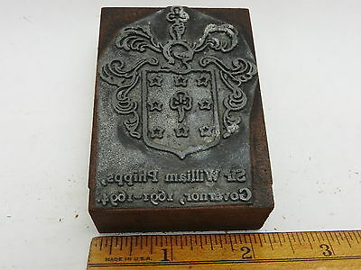 Salem Witch Trials Witchcraft Printers Block Sir Wlm Phips Massachusetts Colony