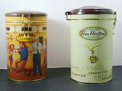 Tim Horton's Collectable Coffee Tins #001 And #005 *