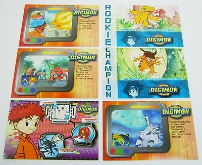 Digimon Digital Monsters Cards - 6 in Total - New Condition