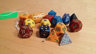 Lot of Dungeon and Dragon Dice Loose