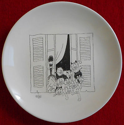 Assiette Plate Signee Albert Dubout