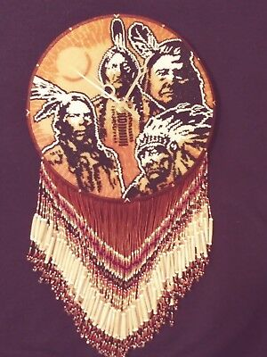 Native American Four Chiefs Beaded Clock Medallion Beaded Medallion