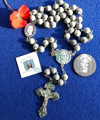 Chaplet Holy Face reparation jasper bead with laminated prayers