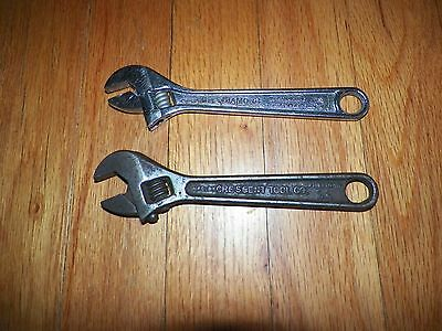 "6"" Crescent Wrenches Crescent Tool Co. and Diamond Crescent Wrench"