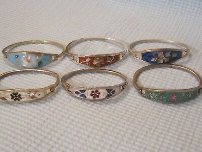 "Lot of 6  Modernist ""Alpaca"" Silverplate Bracelets."