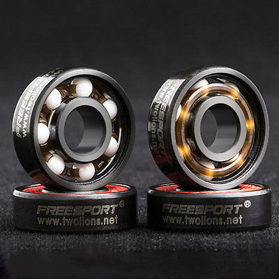 608RS Good Roller Skates Ceramic Ball Inline Skate Bearings Drift Plate IB