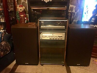 Gold Marantz Sound System with Hitachi Turntable