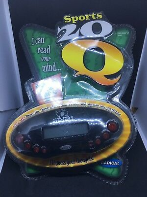 Radica Sports 20 Questions Electronic Handheld Game - Tested & Working