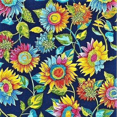 Marblehead Butterflies Are Free Sunflower Blue cotton quilting fabric