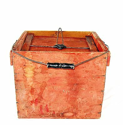 Vintage Antique Wood Farmers Friend Egg Carrier Advertising Crate Late 1800's