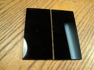 Vintage Monarch 2 X 4-1/4 Filter Plate Welding Tool  Shade 10    Two Pieces