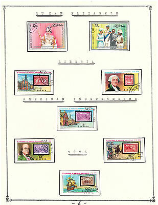 LIBERIA 1976 Amazing Collection V.F. Used Stamps Hinged on list