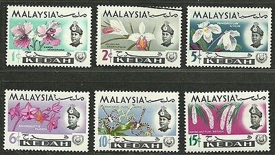 MALAYSIA KEDAH 1965 Very Fine Mint & Used Hinged Stamps Sc# 106-111