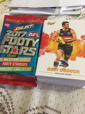 select 2017 footy stars Common Cards 7 For $1.00