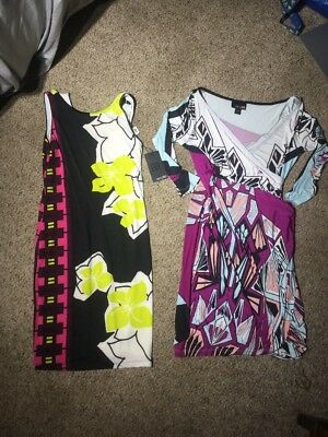 Pair Of 2 ANALILI Stunning DRESS $274 BOUTIQUE SMALL RETRO COCKTAIL GARDEN PARTY