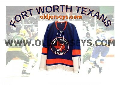 CHL Central Hockey League Fort Worth Texans  Replica Hockey Jersey