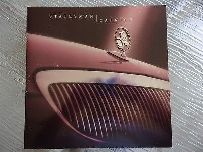 Holden Wh 2000  Statesman & Caprice New Car Sales Brochure & Video
