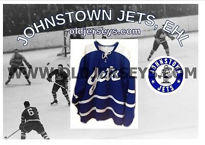 EHL The old Eastern Hockey League Johnstown Jets 1960s Replica Hockey Jersey