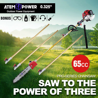 65CC Pole Chainsaw Brushcutter Trimmer Saw Pruner Brush Cutter Petrol Tree