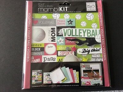 """Mambi Scrapbook Kit Volleyball Stickers and 8"""" x 8"""" papers"""