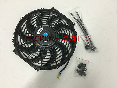 12 inch 12V volt Electric Cooling Fan  Thermo Fan +Mounting kits