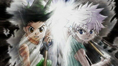 "042 Hunter X Hunter - Neferpitou Gon Killua Fight Anime 24""x14"" Poster"