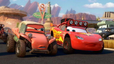 "005 Cars - Pixar Lightning McQueen Cartoon Movie 24""x14"" Poster"