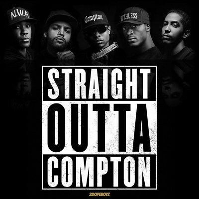 "047 Straight Outta Compton - Ice Cube MC Ren HIPHOP Moive14""x14"" Poster"